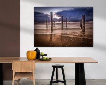 Beach Sunset II van Mario Calma