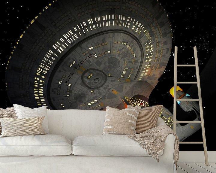 Sfeerimpressie behang: Star Trek Next Generation - USS Enterprise van Roel Ovinge