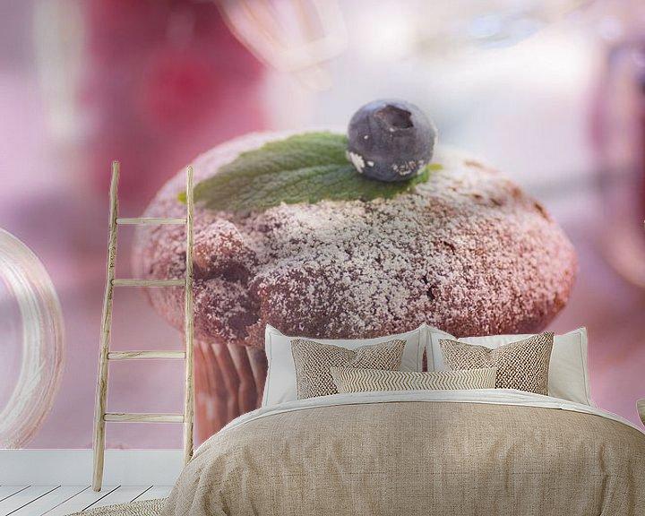 Sfeerimpressie behang: muffin bien encore la vie van Tanja Riedel