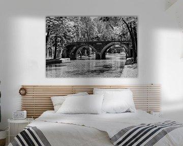 De Hamburgerbrug in Utrecht in zwart-wit (2) van De Utrechtse Grachten