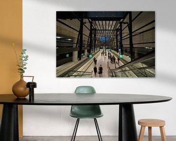 Perron van het treinstation Delft van Michael Echteld