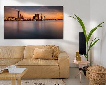 Zonsondergang in Rotterdam van Patrick Rodink