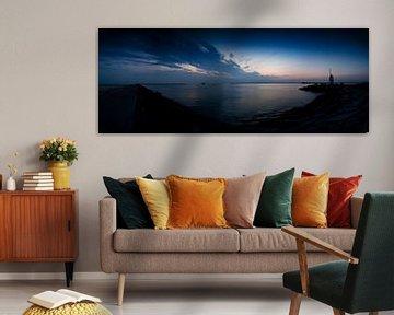 IJmuiden sunset van Jasper van der Meij