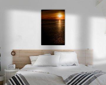 Sonnenuntergang auf der Elbe sur Andreas Müller