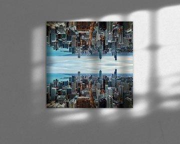 Skyline Chicago Mirror 1 van Joram Janssen