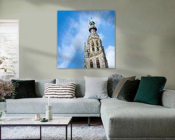 Torenspits van de Grote of Onze-Lieve-Vrouwekerk in Breda van Ruud Morijn