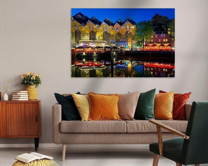 Sfeerimpressie: Kubus woningen aan de Oude Haven te Rotterdam van Anton de Zeeuw