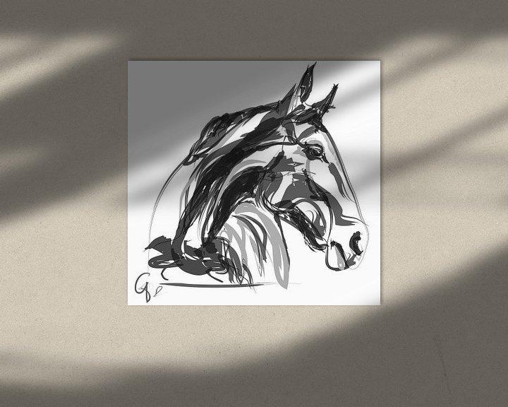 Sfeerimpressie: Paard Apple Black White van Go van Kampen