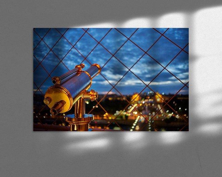 Sfeerimpressie: Verrekijker op de Eiffeltoren van Michael Echteld