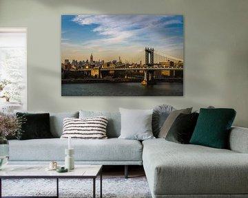 Manhattan Bridge New York van Tessa Louwerens