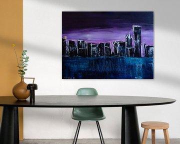 Chicago Skyline - Frosty Sunrise van Eliza Donovan