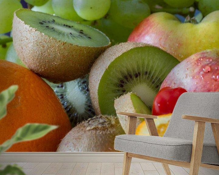 Sfeerimpressie behang: Fruit assortiment van Tiny Hoving-Brands