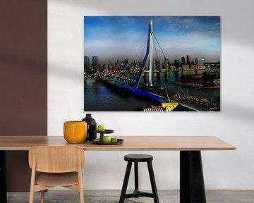 Erasmus Brücke, Rotterdam von Yannik Art