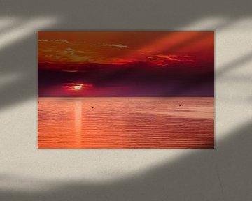 Sunset Veerse Dam 2 van Andy Troy
