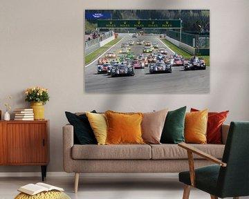 World Endurance Championship Rennen Start an der Rennstrecke Spa Francorchamps von Sjoerd van der Wal