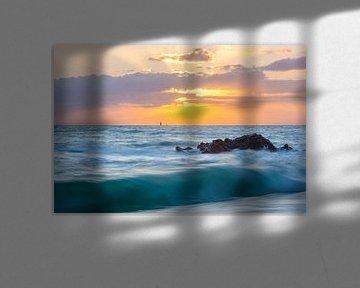 Saint-Malo gedurende zonsondergang van Ardi Mulder