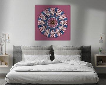 Voorjaarsbloemen, Bloemenmandala-stijl, Bloemenmandala van RaSch-BS_Design