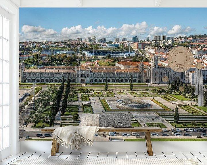 Sfeerimpressie behang: Mosteiro dos Jerónimos in Lissabon van MS Fotografie | Marc van der Stelt