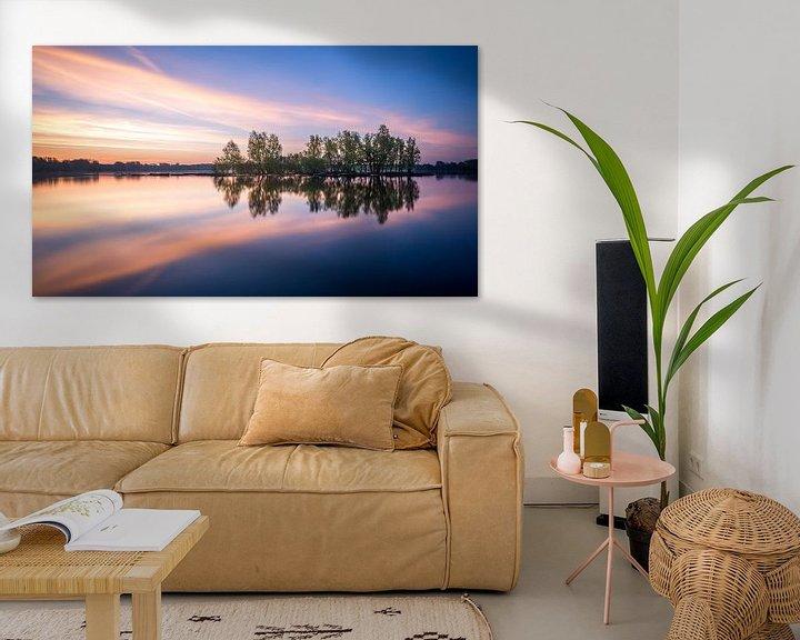 Sfeerimpressie: Kralingse plas met zonsopkomst I van Prachtig Rotterdam