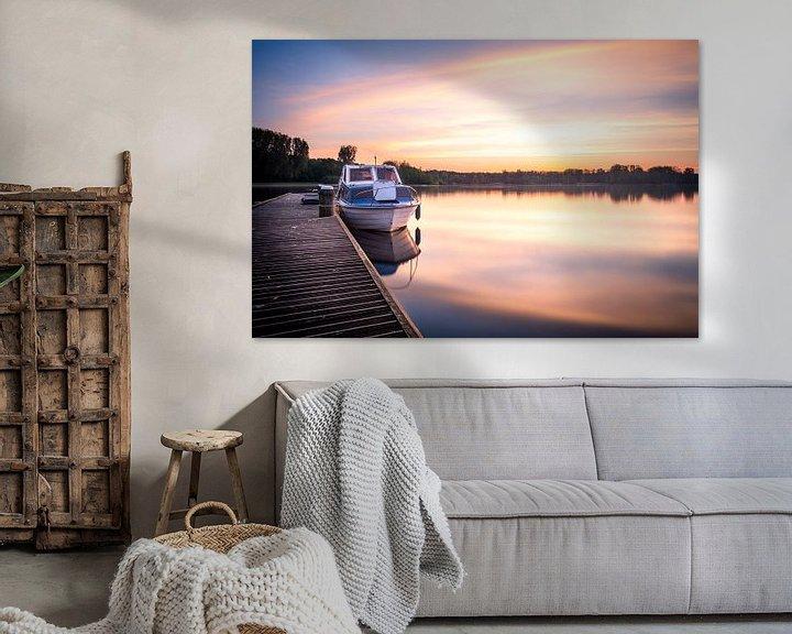 Sfeerimpressie: Kralingse plas met zonsopkomst II van Prachtig Rotterdam