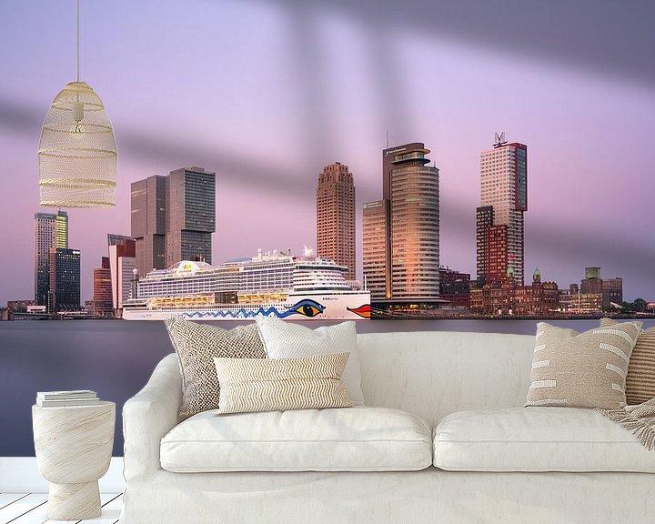 Sfeerimpressie behang: AIDA voor de Kop van Zuid van Prachtig Rotterdam