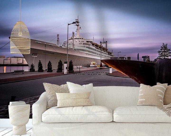 Sfeerimpressie behang: ss Rotterdam van Prachtig Rotterdam