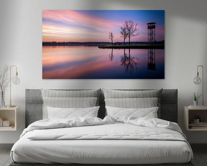 Sfeerimpressie: Kralingse plas met zonsopkomst IV van Prachtig Rotterdam