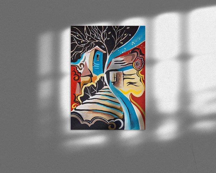 Beispiel: Abendmilieu, Malerei von Ariadna de Raadt-Goldberg
