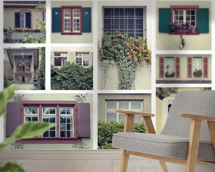 Sfeerimpressie behang: swiss windows van Ariadna de Raadt