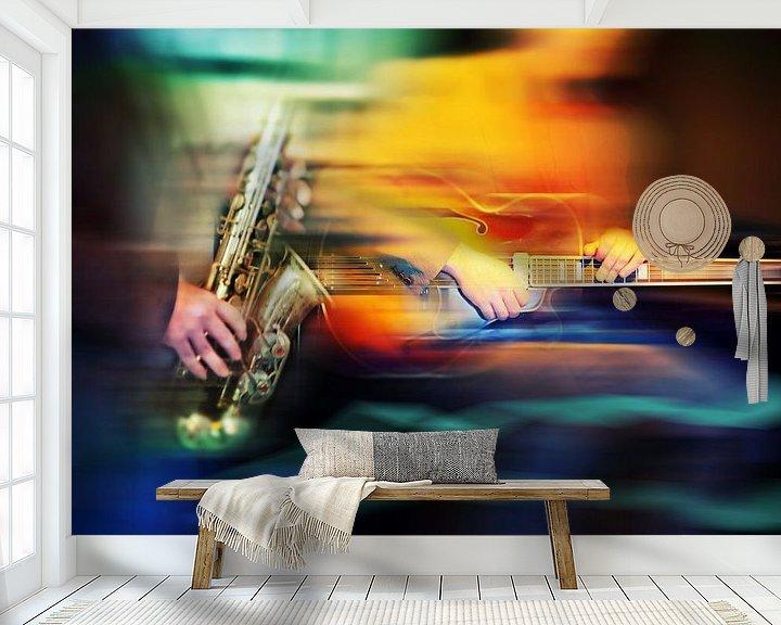 Impression: musique de jazz dans un café sur Ariadna de Raadt-Goldberg