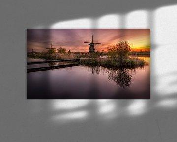 Kinderdijk net voor zonsopgang van Patrick Rodink