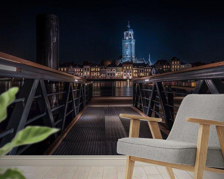 Sfeerimpressie behang: Deventer Schipbrug van Patrick Rodink