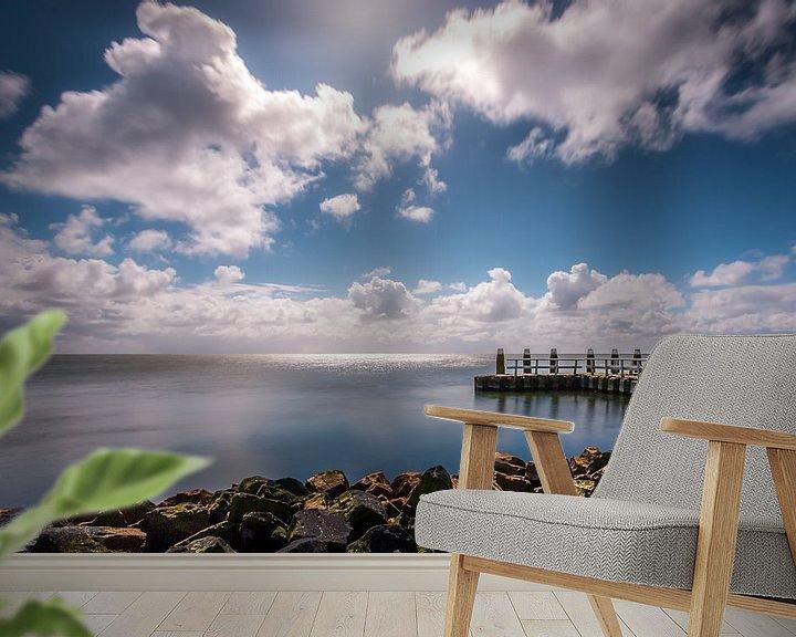 Sfeerimpressie behang: Afsluitdijk van Patrick Rodink