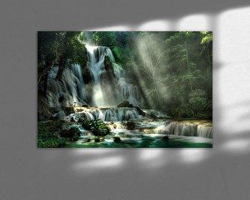 Lost Paradise of Xuang Si, Laos von Giovanni della Primavera