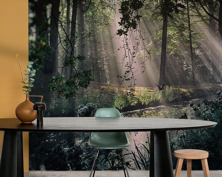 Sfeerimpressie behang: Ducking away van Stefan Witte
