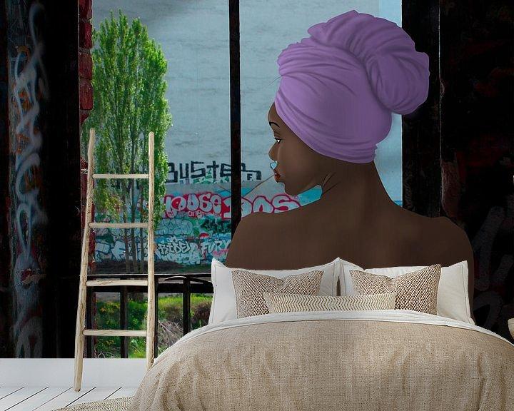 Sfeerimpressie behang: Ochtend douche van Kim Verhoef