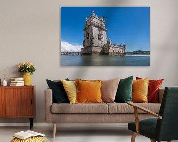 Torre de Belém in Lissabon van MS Fotografie | Marc van der Stelt