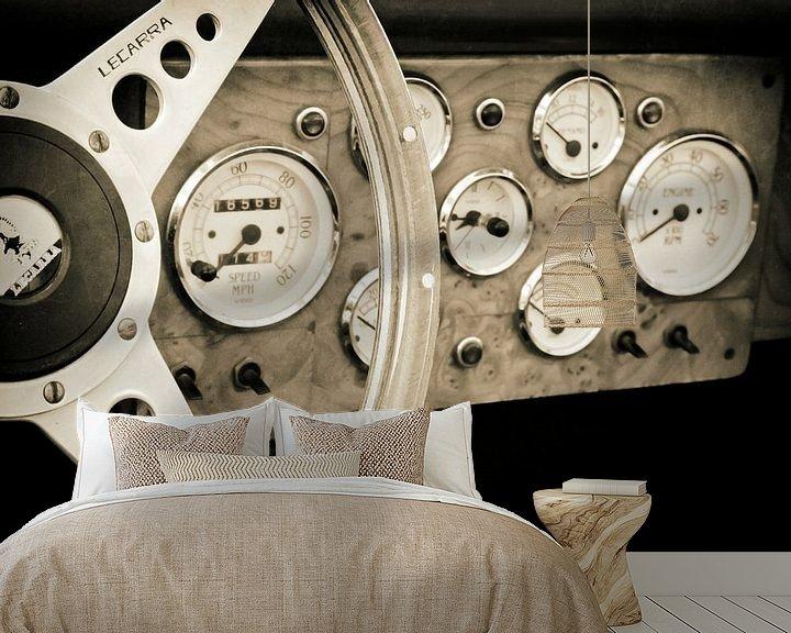 Impression: Tableau de bord d'époque Jaguar XK 120 sur Jan van der Knaap