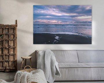 Zonsondergang - Noordwijk strand von Richard Steenvoorden