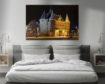 Nacht Bild von De Waag in Amsterdam. von Anton de Zeeuw