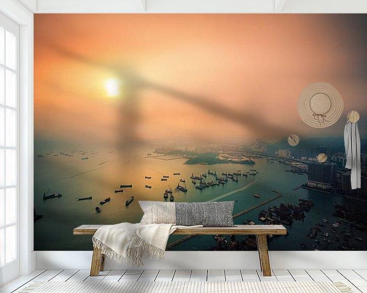 Sfeerimpressie behang: Sunset Symphony van Cho Tang