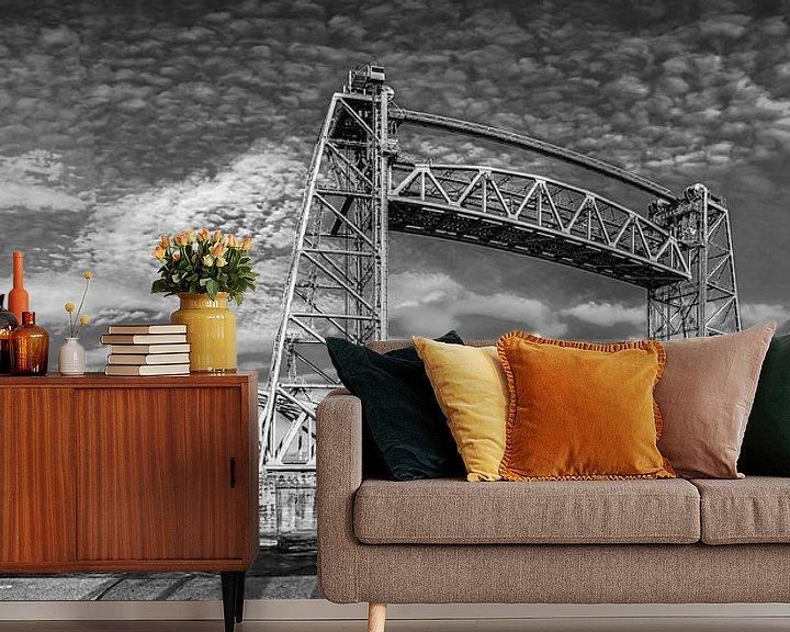 Sfeerimpressie behang: Panorama de Hef in zwartwit van Ilya Korzelius