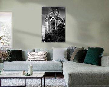 Weißes Haus in Rotterdam von Mark De Rooij