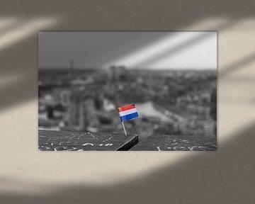 Nederlandse vlag op de Euromast van Richard Steenvoorden