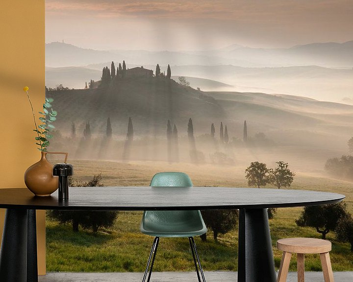 Sfeerimpressie behang: Toscane van Bendiks Westerink