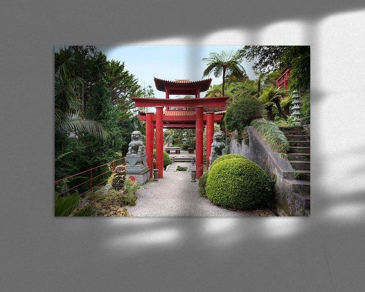 Impression: Japanese garden on maadeira island with pagoda sur ChrisWillemsen