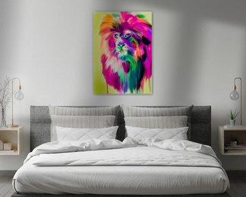 Lion Colourful von Felix von Altersheim