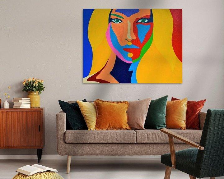 Beispiel:  Madame 2 , rot, blau und gelb von Freek van der Hoeve