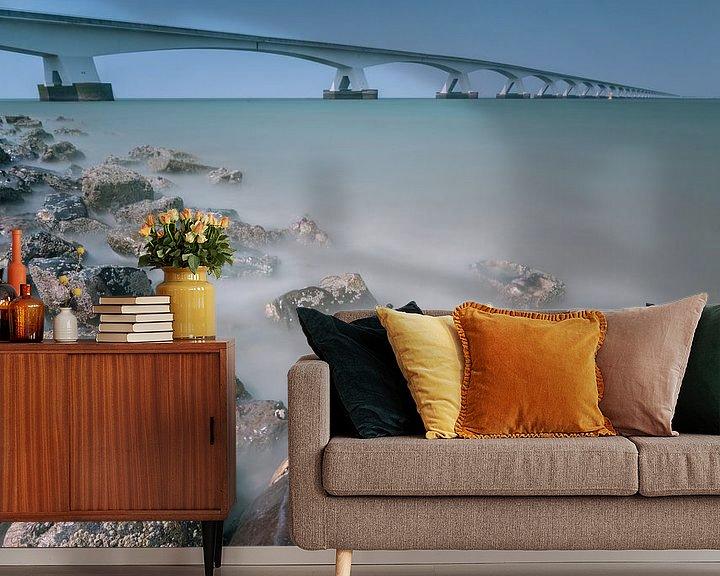 Sfeerimpressie behang: Zeelandbrug in de provincie Zeeland van Ardi Mulder