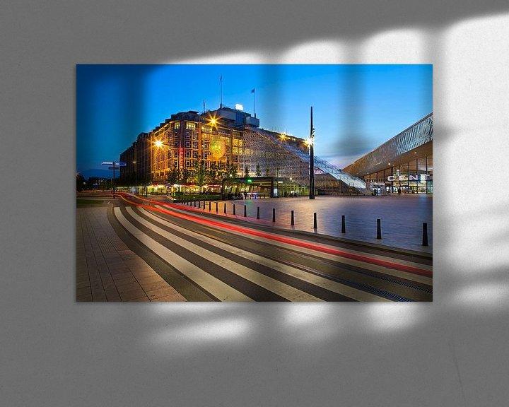 Sfeerimpressie: Groot Handelsgebouw met De Trap te Rotterdam van Anton de Zeeuw